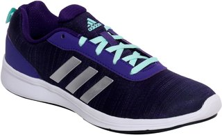 Adidas Women's Purple Lace-up Running Shoes