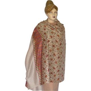 Saffanah Printed Cashmion Winter Shawl with Silk Work