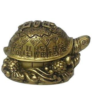 Oddishabazar Vastu Fengshui Good Fortune Money Tortoise Showpiece - 5 c