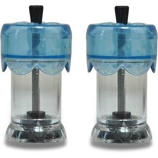 Kuber Industries Acrylic Pepper Grinder Manual Black Pepper Grinding Tool & Salt Disher (2 in 1) Set of 2 Pcs