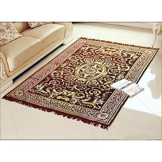 Buy Kuber Industries Home Premium Living Room Velvet touch Carpet Rug -(84*54 Inches , Maroon) CA-04 Online - Get 50% Off