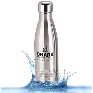2b5ab28059a Dhara Stainless Steel Water Bottle For Hot   Cold Water (500ml)-DHARA14