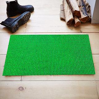 Kuber Industries Dirt Rubb Off Clean Footwear PVC Thick Doormat for Offices,Hotel ,Restaurtaurant, Home,Shop Color- Green Size : 60 cm x 38 cm x 1.5 cm