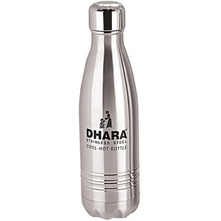 Dhara Stainless Steel Water Bottle For Hot  Cold Water  (500ml)-DHARA02