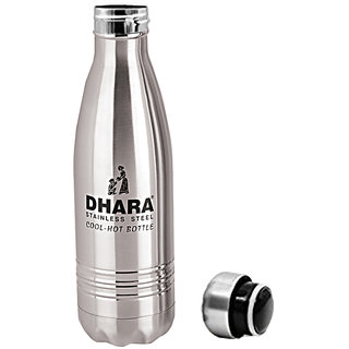 1d91e1a0bf0 Dhara Stainless Steel Water Bottle For Hot   Cold Water (500ml)- DHARA03
