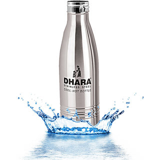 1e93befa16c Dhara Stainless Steel Water Bottle For Hot   Cold Water (1000ml)-DHARA35