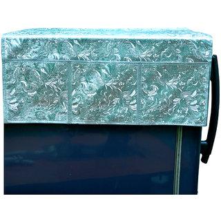 Kuber IndustriesDecorative Fridge Cover/ Refrigerator cover- Waterproof (Grey Floral Design)