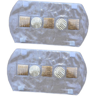Kuber Industries Multi-Purpose Handle Cover For Car/ Refrigerator/Oven (1 Pair) In 3D Transparent Laminated Patch Design