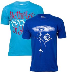 (Best Quality) Ifs Mens Cotton Tshirt Combo Of 2