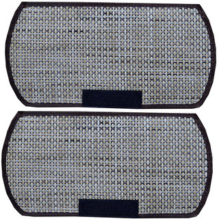 Kuber Industries Multi-Purpose Handle Cover For Car/ Refrigerator/Oven (1 Pair) In Jute Design
