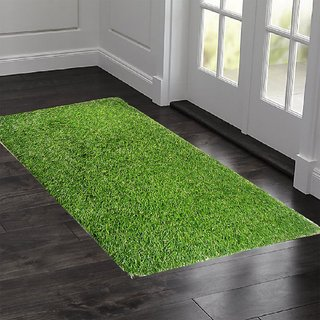 Kuber Industries 45 MM Arificial Grass For Floor, Soft And Durable Plastic Natural Landscape Garden Plastic Door Mat, Artificial Grass Large Size(100 cm x 60 cm x 1.5 cm) Grass0111