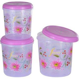 Kuber Industries Big Plastic Container Set/Storage Box Set of 3 Pcs (11000 Ml  7500 Ml  5000 Ml ) Contain09
