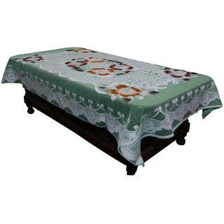 Kuber Industries Center Table Cover Brown Floral Design in Cloth 40*60 Inches - KU326