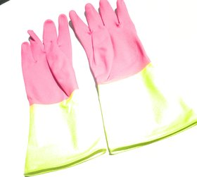 Gloves for Kitchen House Hold Non Slip gloves use for kitchen sink cleaning, (set of 1)