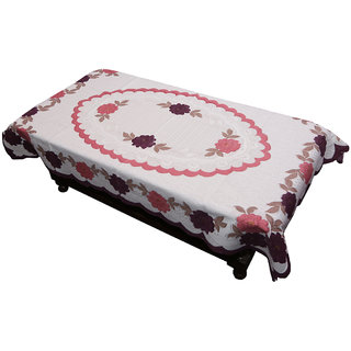 db9875bc66f Buy Kuber Industries Center Table Cover Cream Floral Design in Cloth 40 60  Inches - KU317 Online - Get 50% Off