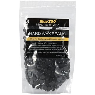 Blue Zoo Black Wax Beans for Men Hair Removal Painless Wax Beans Depilatory No Strip Hair Remover Epilator 100g Hard Wax