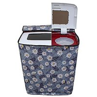 Kuber Industries Washing machine cover Semi Automatic Top Load -(Suitable For 6 Kg, 6.5 kg & 7 Kg) WMC14 (Color & Print might Be Vary)