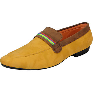 FAUSTO Beige Brown Mens Trendy Loafers