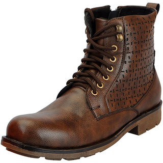 df3607880739 Buy FAUSTO Brown Men s High Ankle Boots Online   ₹1699 from ShopClues