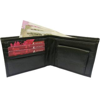 wallets for men of genuine leather in black color 4 card slots(wenzest)