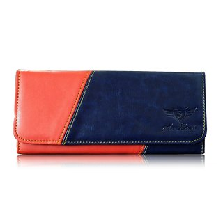Sn Louis Blue And Red Women Wallet