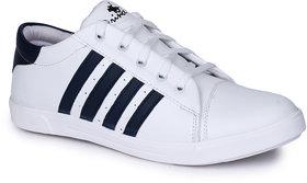 Do Bhai Men's White Sneakers
