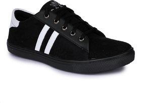 Do Bhai Men's Black Sneakers