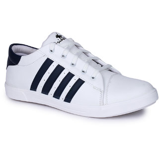 Do Bhai Mens White Sneakers