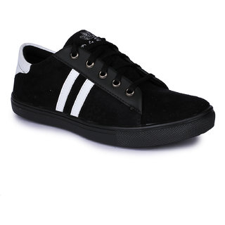 Do Bhai Mens Black Sneakers