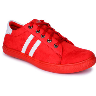 Do Bhai Mens Red Sneakers
