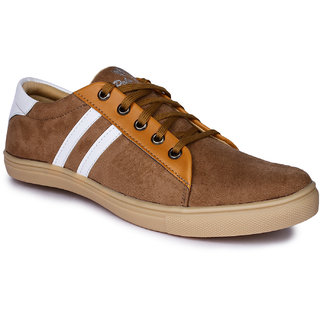 Do Bhai Mens Tan Sneakers