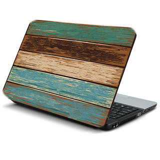 Wooden 3D laptop texture