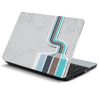 White blue grunge laptop skin