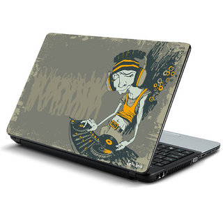 Dj illustration laptop skin