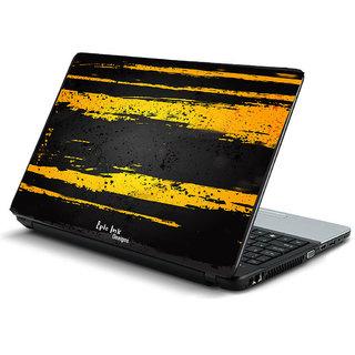 Black yellow grunge laptop skin