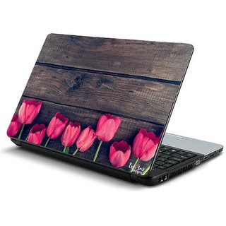 wooden hindi  laptop skin