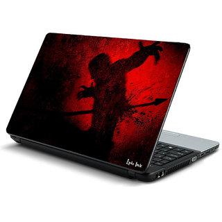 Red gaming laptop skin