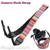 Gadget Hero's Retro Color Patterns Neck Shoulder Soft Strap For SLR DSLR Camera