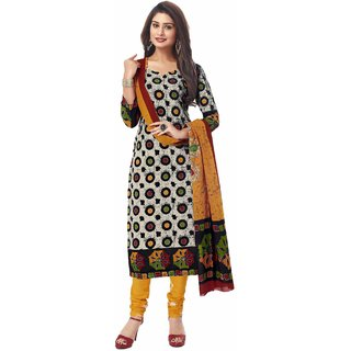 Miraan Unstitched Cotton Dress Material for Women