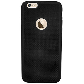 Just Click  Back Cover for iPhone 6, iPhone 6S  (Black, Rubber)