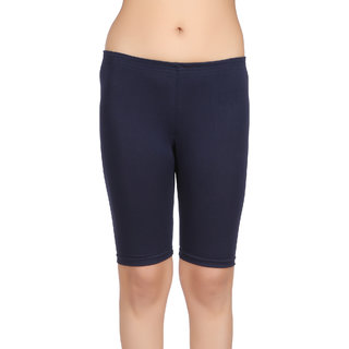 Care in Women's Navy Solid Short