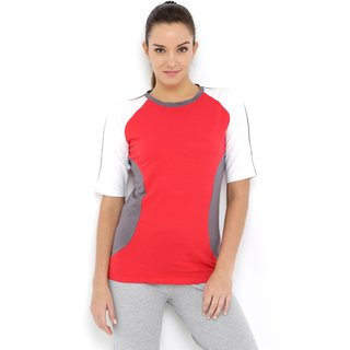 Tuna London Red color Round Neck Cotton Tshirt for womens