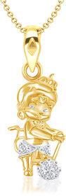 VK Jewels Bal Hanuman Gold and Rhodium Plated Kids Pendant - P1265G VKP1265G