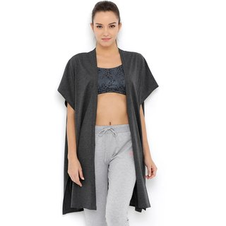 Tuna London Dark Grey color NA Cotton Shrug for womens