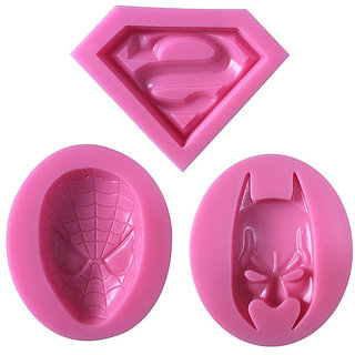 Futaba Super Hero Silicone Molds - 3 Pcs ( Superman Spiderman and Batman )
