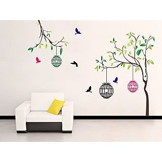 EJA Art PVC Multicolor Free Bird Case Covering Area 150 x 115 Cms  1 Pc