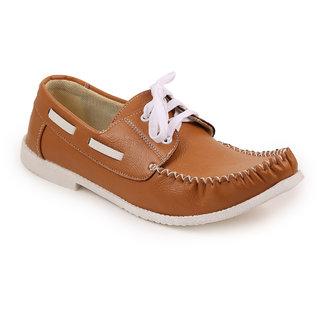 Quarks Men's Beige Synthetic Smart Casual Shoes