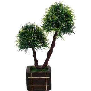 carmer artificial green bonsai plant