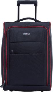 BagsRUs Matte Black Polyester 36L Cabin Luggage Overnight Travel Trolley Bag (CA113FBL)
