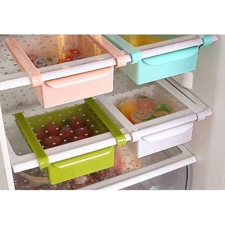 Itsezy Multipurpose Unbreakable Fridge Space Saver Organizer Slide Storage Rack Shelf Drawer Box (3 month Warranty)